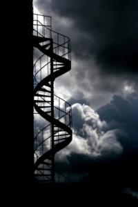 Treppe zum Bergfried von Altweilnau ©2005-2015 Kaeros-Stock