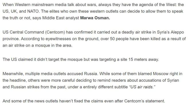 more-fake-news-western-media-blames-russia-for-deadly-us-airstrike-on-mosque-in-syria