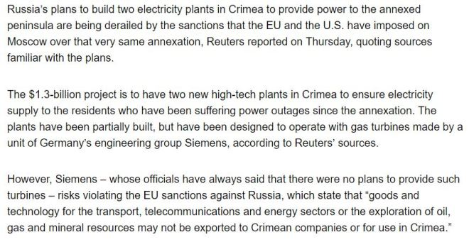 Russias-Power-Plant-Plans-In-Crimea-Hit-Sanction-Snag