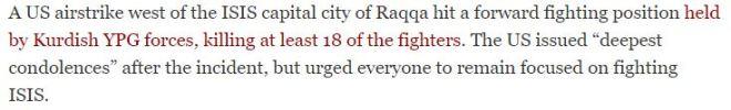 us-airstrike-kills-18-kurdish-fighters-near-raqqa