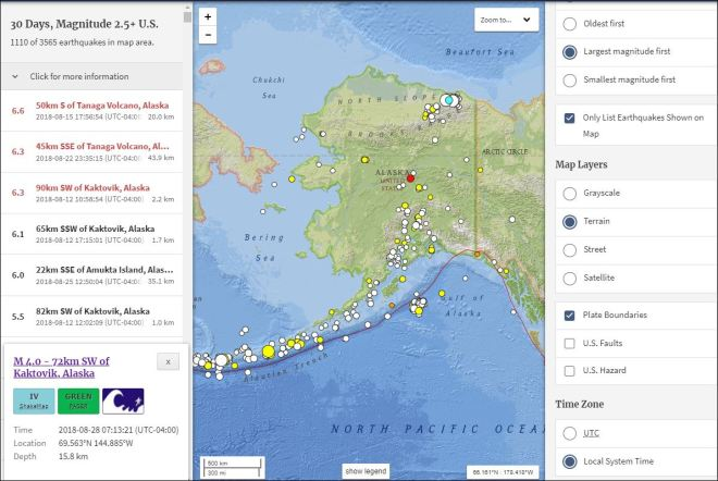 Kaktovik Alaska Map.Summary Earthquakes 4 Alaska Kaktovik 8 12 18 8 28 18 All About